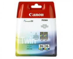 Canon CLI36 Pack x2 inkjet 3 colori originale (1511B018)