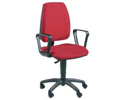 Unisit jupiter jubr red sedia operativa girevole con ruote colore