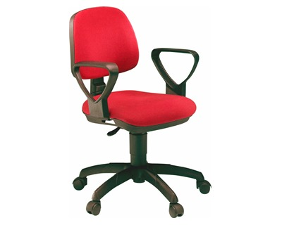 Unisit ATLAS A41B/RED Sedia home office girevole con ruote, colore ...