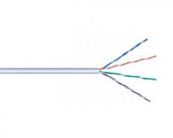 Cavo di rete UTP Cat.5e flessibile matassa 100 mt, colore grigio
