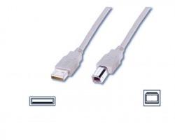 Cavo USB 2.0 A - B 5mt, grigio, schermato
