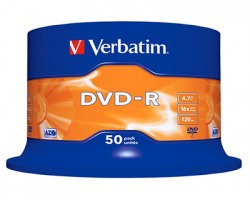 Verbatim 43548 DVD-R 4.7GB, 120 minuti, spindle da 50 DVD