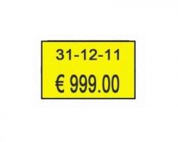 700 etichette rettangolari gialle permanenti 26 x 16mm per prezzatrice 2616 conf. 10pz