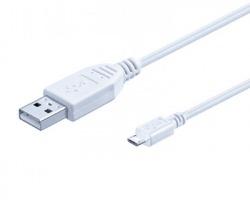 Cavo USB 2.0 A - MICRO B 1mt, bianco, schermato