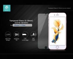 Devia® Pellicola in vetro temperato, curve edge, 9H 0.18 mm per iPhone 7, ultrasottile e perfetta protezione