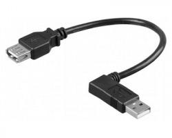 Cavo USB Maschio 90° / Femmina lungo 30cm