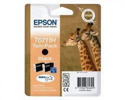Epson T0711H Multipack inkjet 1x2 nero originale alta capacità (C13T07114H20)