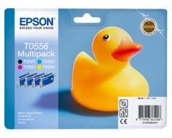 Epson T0556 Multipack inkjet nero + 3 colori originale (C13T05564020)
