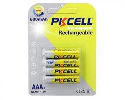 PKcell Pile AAA NI-MH 600mAh Ministilo Ricaricabili da 1.2V blister da 4pz