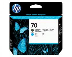HP C9404A Testina di stampa nero opaco ciano originale (70)