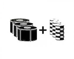 Zebra ZIPSHIPKIT3 kit 1x3 Etichette + Ribbon cera per stampante desktop