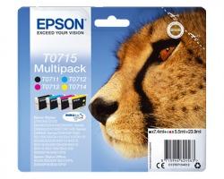 Epson T0715 Multipack inkjet nero + colori originale (C13T07154020)