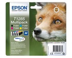 Epson T1285 Multipack inkjet nero originale + 3 colori (C13T12854010)