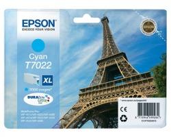"""Epson T7022 Cartuccia inkjet ciano originale """"XL"""" (C13T70224010)"""