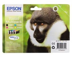Epson T0895 Multipack inkjet nero + 3 colori originale (C13T08954010)