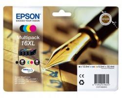Epson 16XL Multipack inkjet nero + 3 colori originale alta capacità (C13T16364010)