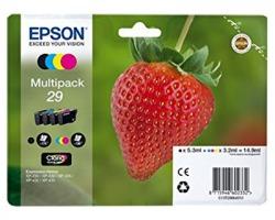 Epson 29 Multipack inkjet nero + 3 colori originale (C13T29864010)
