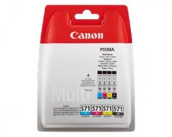 Canon CLI571CMYK Multipack inkjet nero + 3 colori originale(0386C004)