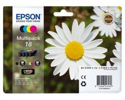Epson 18 Multipack inkjet nero + 3 colori originale (C13T18064010)