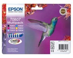 Epson T0807 Multipack inkjet nero ciano magenta giallo ciano-chiaro magenta-chiaro originale (C13T08074020)