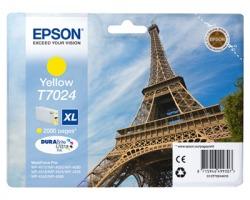 """Epson T7024 Cartuccia inkjet giallo originale """"XL"""" (C13T70244010)"""