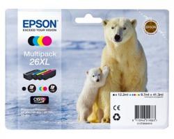 Epson 26XL Multipack inkjet nero + 3 colori originale alta capacità (C13T26364010)