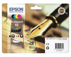 Epson 16 Multipack inkjet nero + 3 colori originale (C13T16264010)