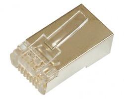 Connettore Plug RJ45 8poli Cat.5e STP schermato per cavo di rete flessibile