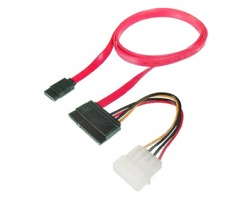 Cavo SATA 22 pin - SATA + connettore alimentazione molex, 50 cm