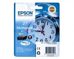 Epson 27 Multipack inkjet ciano magenta giallo originale (C13T27054010)