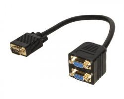 Adattatore VGA maschio - 2x VGA femmina