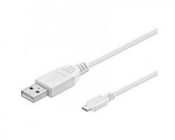 Cavo Micro USB 2.0 schermato bianco, 1.8mt