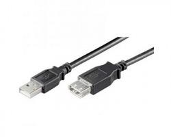 "Cavo USB 2.0 ""A"" maschio - femmina nero, 60cm"