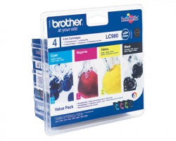 Brother LC980VALB Multipack inkjet nero + 3 colori originale