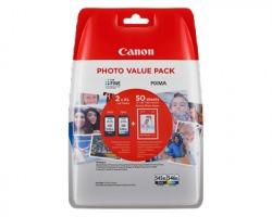 Canon PG545XL-CL546XL Multipack inkjet nero + colori + 50 fogli GP-501 originale (8286B007)