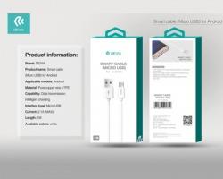 Devia Smart cable Micro USB for Android, trasferimento dati e ricarica - Colore bianco