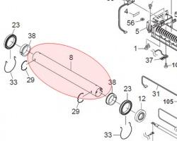 Kyocera 2F925050 Rullo fusore superiore compatibile (2J025160)