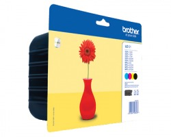 Brother LC121VALBP Multipack inkjet nero + 3 colori originale