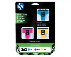 HP CB333EE Pack x1 inkjet ciano magenta giallo originale (363)