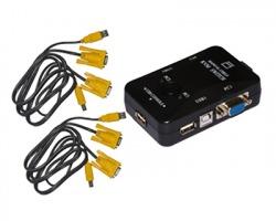 Link Switch KVM per 2 PC USB/ VGA con 1 mouse, 1 tastiera USB e 1 monitor VGA - Cavi inclusi