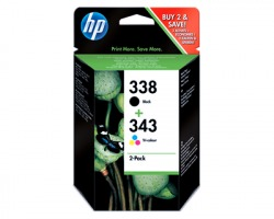 HP SD449EE Multipack inkjet originale (338+343)