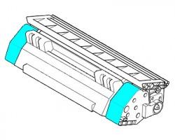 Kyocera TK5240C Toner ciano compatibile (1T02R7CNL0) scatola bianca