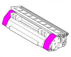 Lexmark 80C2SM0 Toner magenta rigenerato