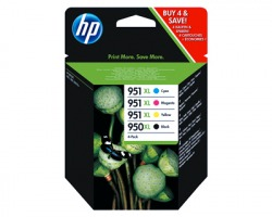HP C2P43AE Multipack inkjet nero + 3 colori orginale (950XL+951XL)