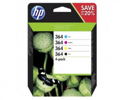HP N9J73AE/ SD534EE 364 Pack inkjet nero + 3 colori originale (364)