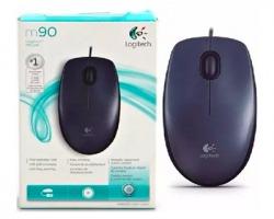 Logitech M90 Mouse ottico nero USB 3 tasti e rotella di scorrimento (910-001793)