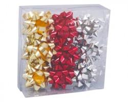 Coccarde regalo misura media in colori assortiti - scatola da 18pz