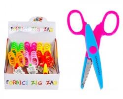 Forbici ZIG ZAG con lama zigrinata, colori assortiti