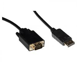 Cavo adattatore Displayport maschio / VGA maschio, 1.8 m