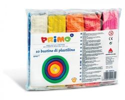 Primo 269PP10 Bustine di plastilina da 55g, 10 colori.